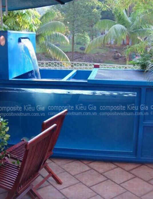 Sử dụng bể cá composite