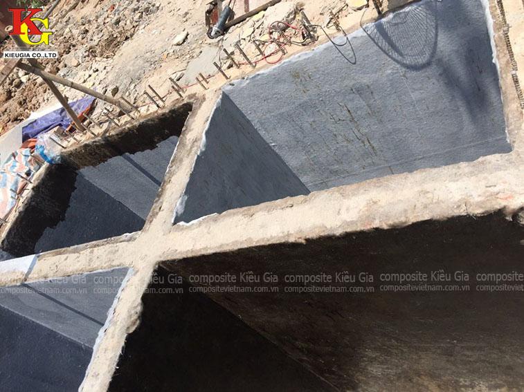 Bọc composite cho bể xử lý nước thải